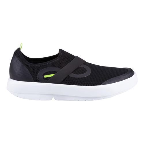 OOFOS Men's OOmg Low Shoes BLK.WHT