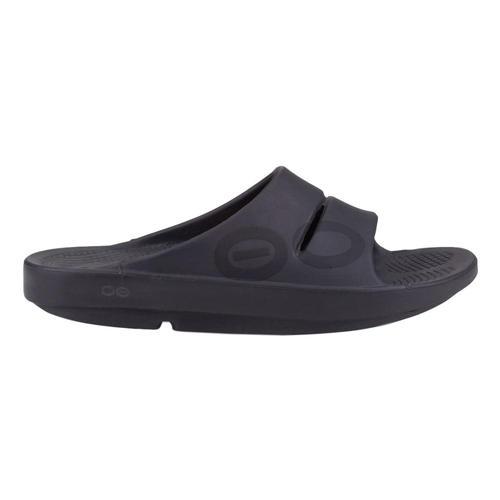 OOFOS Men's OOahh Sport Slide Sandals BLKMATTE