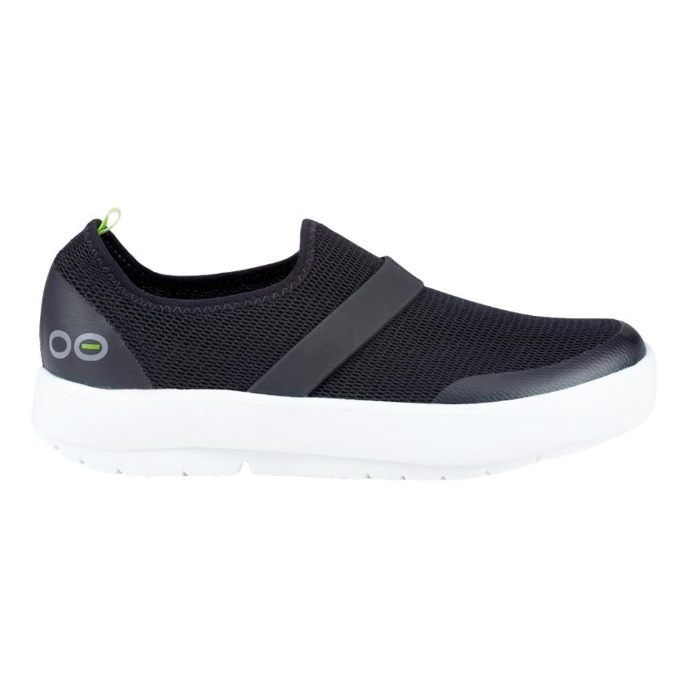 OOFOS Women's OOmg Low Shoes WHT.BLK