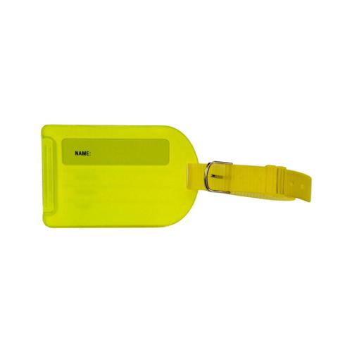 Voltage Valet Neon Luggage Tag - Yellow